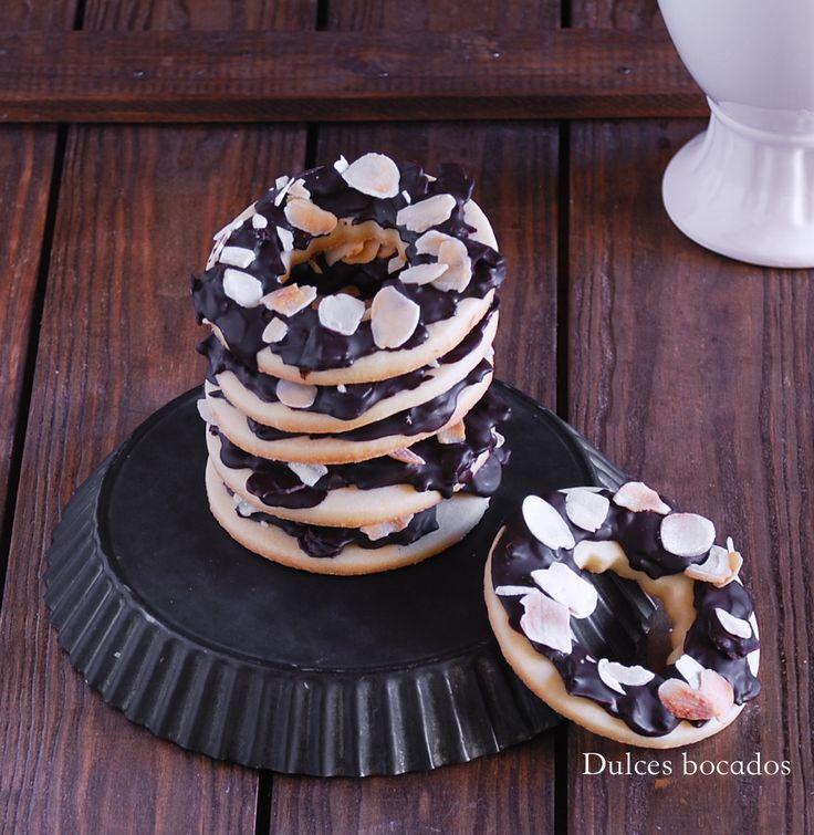 Chocolate almond samoas cookies Galletas samoas de chocolate y almendra