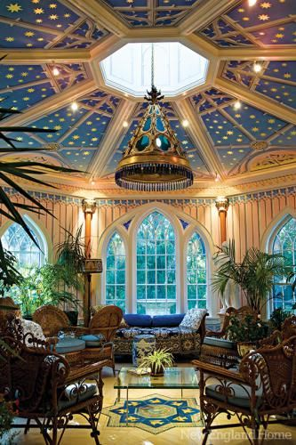 If you can't afford a full glass ceilinged conservatory, create the illusion of one.
