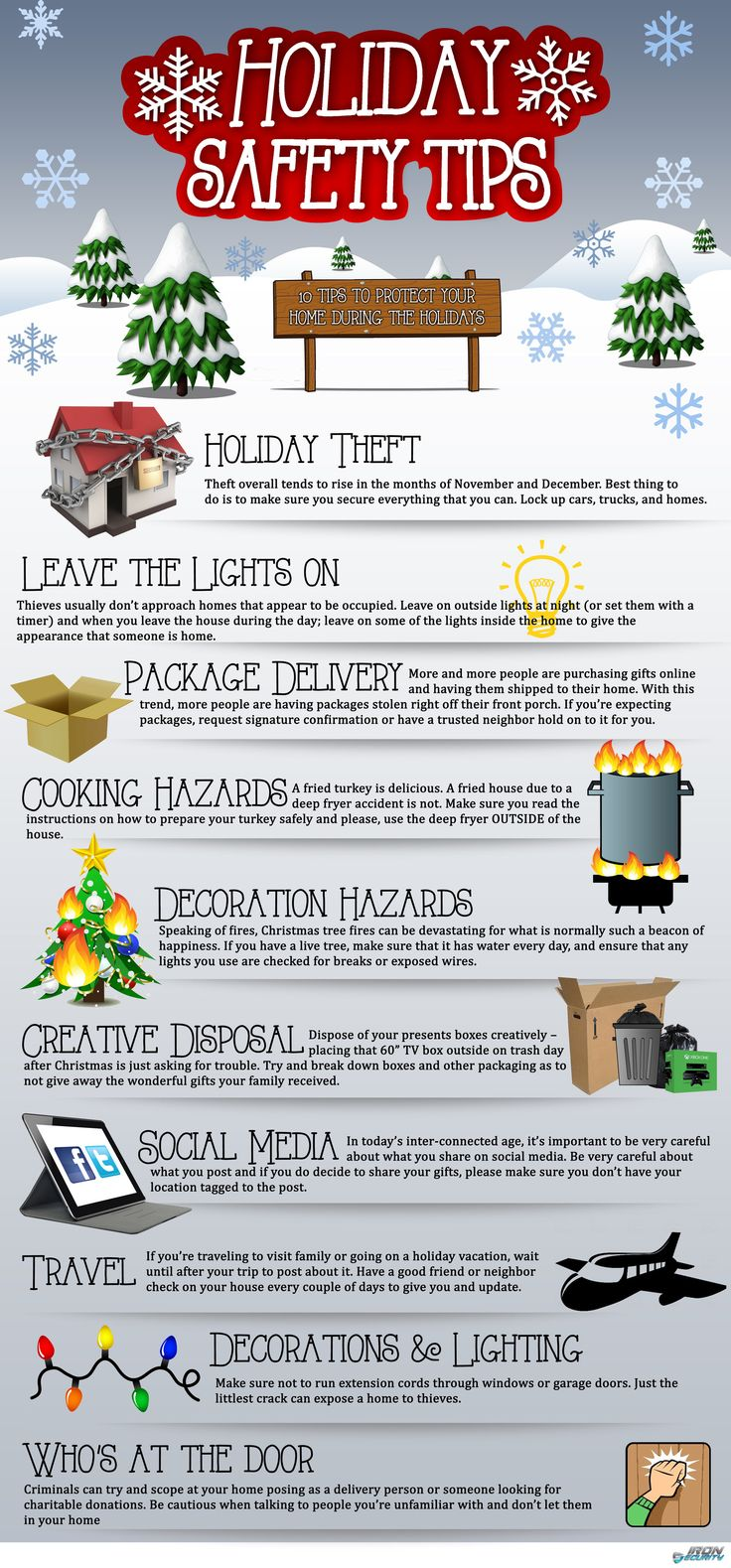 How to Maintain Home Safety this Holiday #Infographic #Christmas