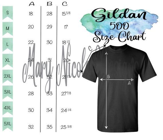 Gildan G500 Size Chart T Shirt Mockup Flat Lay Etsy Shirt Mockup Size Chart Tshirt Mockup