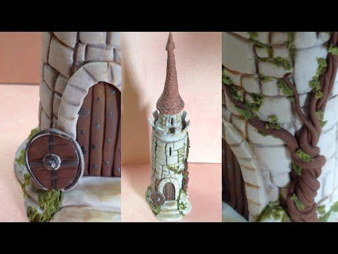 ▶ Castle/ bottle- Polymer clay - YouTube