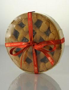 La crostate di una volta, cotta al forno in stampo di legno, con 100% farina di riso e farcita con vari tipi di confettura e o crema gianduja.