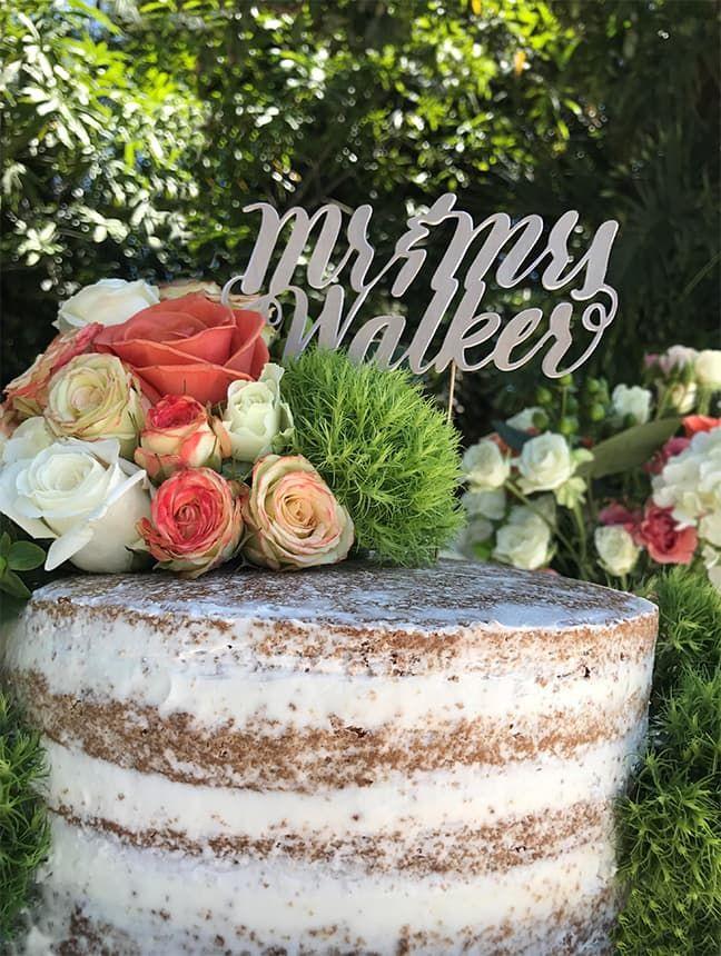 Handlettered Wedding Cake Topper – Silhouette America Blog - Jessica6