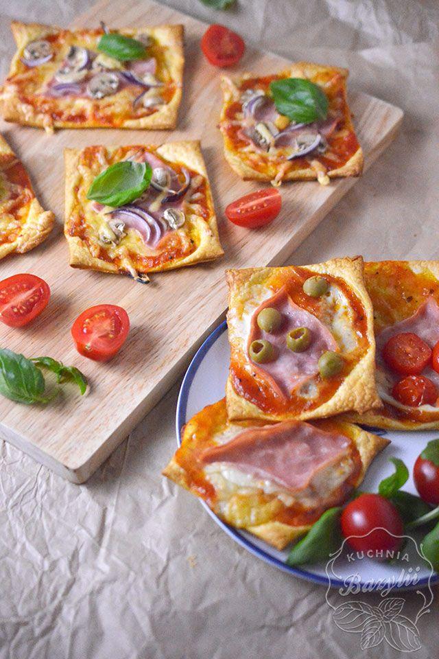 Mini Pizze Z Ciasta Francuskiego Z Szynką Przepis Na