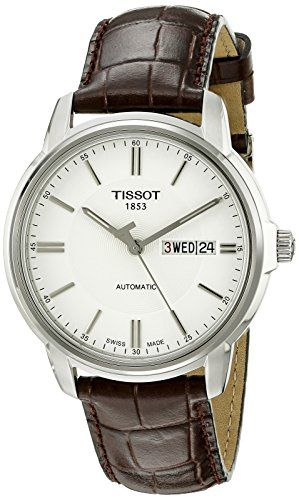 Great gift idea Tissot Men's T0654301603100 Automatic III Swiss Automatic Watch with Brown Band