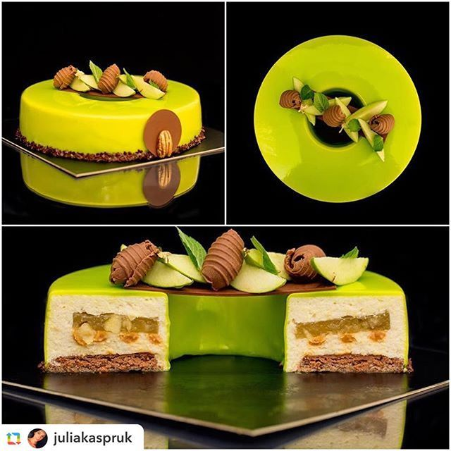 Form Pastry course in Seminar #iteppa 2016 in #internationalpastryacademy #edemcake in the best vertion vainilla caramell rosted Apple Mousse pecan sponge And pecan praline with acid apple compote. Thanks to all the student And special Thanks To @juliakaspruk for her Good Work in pictures.
