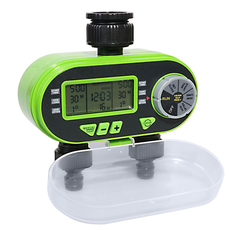 Elegant Garden LCD Hose Irrigation Water Timer Sprinkler System With Rain Delay  Feature