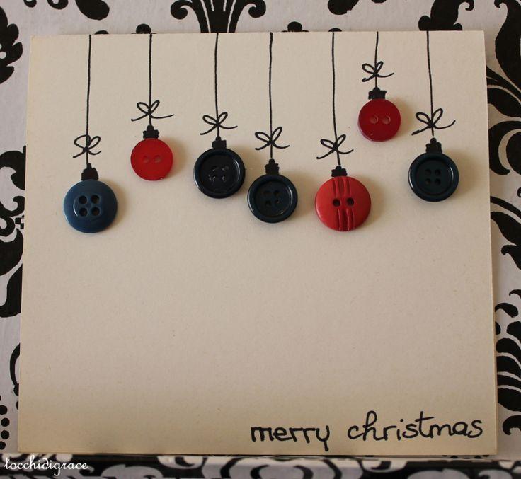 Biglietti di Natale con bottoni DIY