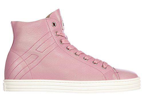 Hogan Rebel scarpe sneakers alte donna in pelle nuove r182 rebel vintage rosa EU 37.5 HXW1820Q4007WNM412 in OFFERTA su www.kellieshop.com Scarpe, borse, accessori, intimo, gioielli e molto altro.. scopri migliaia di articoli firmati con prezzi in SALDO #kellieshop Seguici su Facebook > https://www.facebook.com/pages/Kellie-Shop/332713936876989