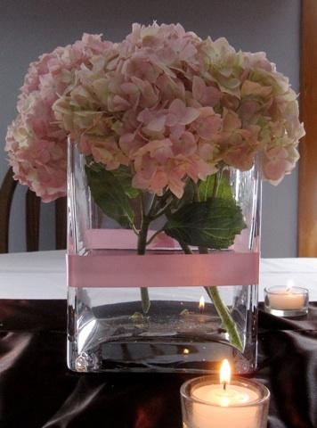 simple arrangement: Brown Color Palettes, Wedding, Brown Colors, Pale Pink, Flower Arrangements, Floral Arrangement, Pink Hydrangea