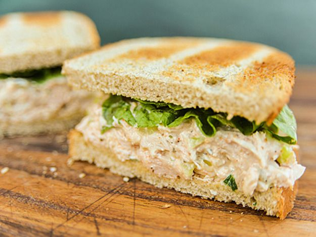 A smoky flavor plus additions like cider vinegar, celery seeds, hot sauce, and paprika make for a delicious and unusual chicken salad. \n