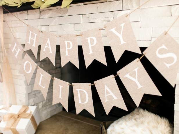 """Make This DIY """"Happy Holidays"""" Christmas Banner From Our Free Downloadable Template >> http://www.diynetwork.com/how-to/make-and-decorate/entertaining/how-to-make-a-happy-holidays-banner?soc=pinterest"""