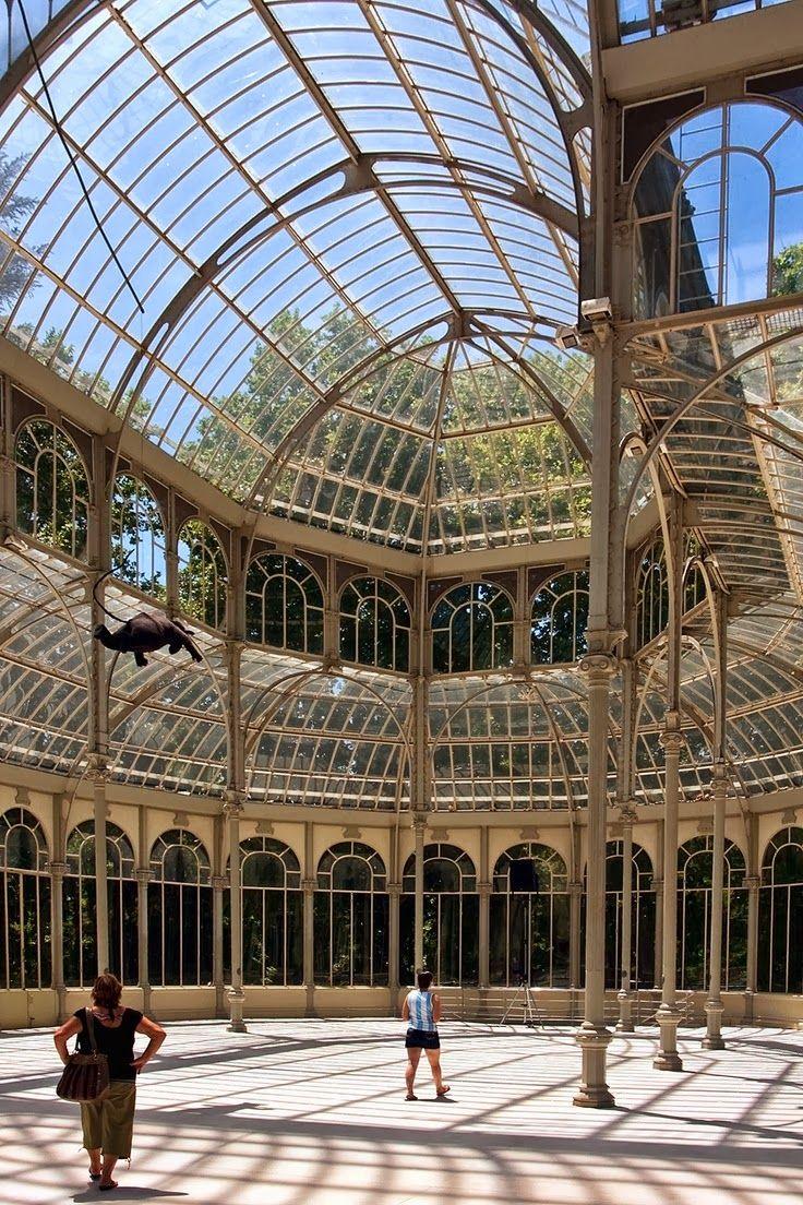 30 best Palacio de Cristal Retiro Park Madrid images on Pinterest  Crystal palace Crystals