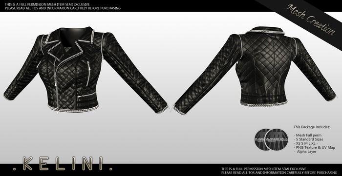 . K E L I N I . FULL PERM Mesh Fashion Jacket V2
