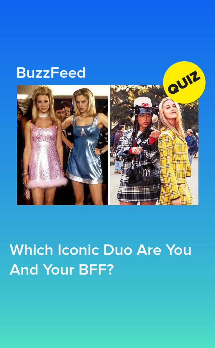 Which Iconic Duo Are You And Your BFF? (With images) Bff