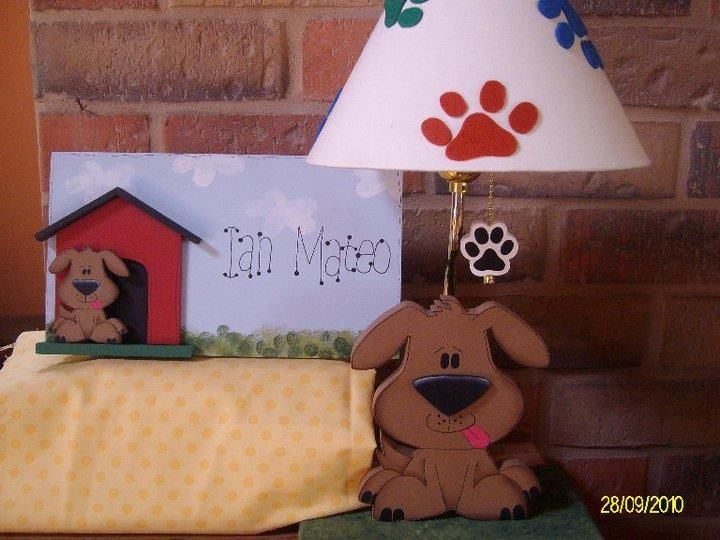Dog lamp for kids room decor