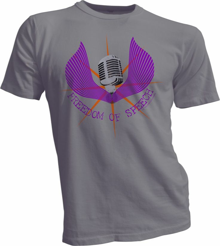 Freedom of speech t shirt by visional freeman print on 100 for T shirt design materials