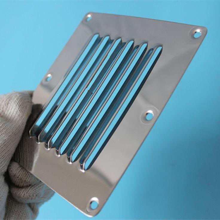 Louvred Rvs Vierkante Ventilatierooster Metalen Muur Ventilatie 12.5 cm * 11.5 cm