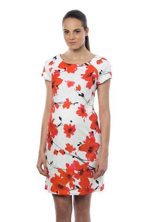 8857fa8d34e Robe de  grossesse habillée fleurs rouges - Pietro Brunelli Milano -   Taylorbox  location