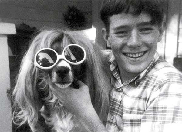 Четырнадцатилетний Брайан Крэнстон и его собака, 1970 год