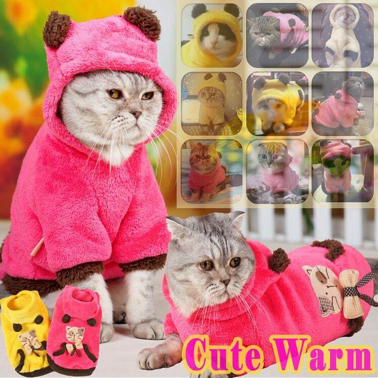 Милый теплая зима любимая одежда мягкий красно двустороннее ватки кот толстовки собака кошка одежда для кошки домашнее животное щеноккупить в магазине M&A FashionнаAliExpress