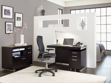 WorkSpace And Home Office | Smart Furniture Modern Home Office · Glass  DeskModern ...