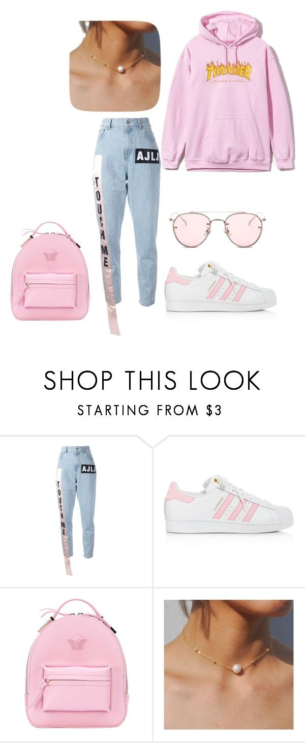 """Untitled #346"" by jesysminn on Polyvore featuring Au Jour Le Jour, adidas and Versace"