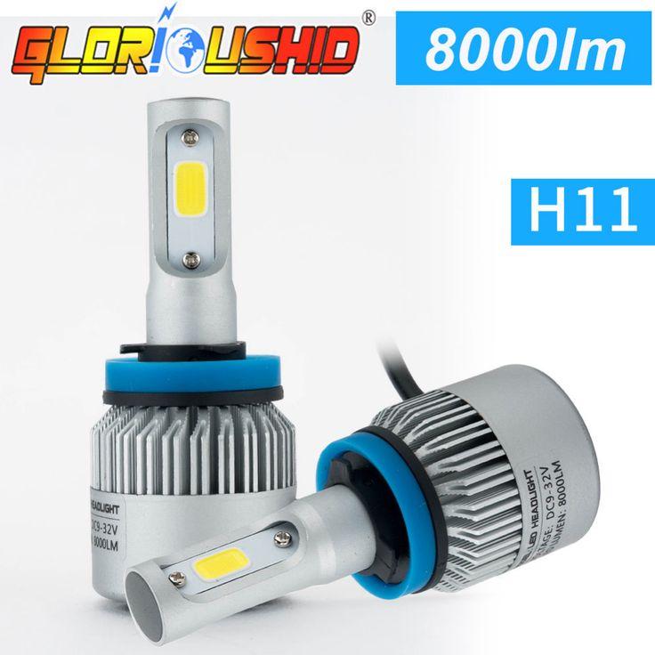 One pair H4 xenon 6500k 72W 8000lm Car Led Bulb H7 H4 H1 H3 9005 9006 H11 LED Headlight Bulb Automobiles Headlamp Fog Light
