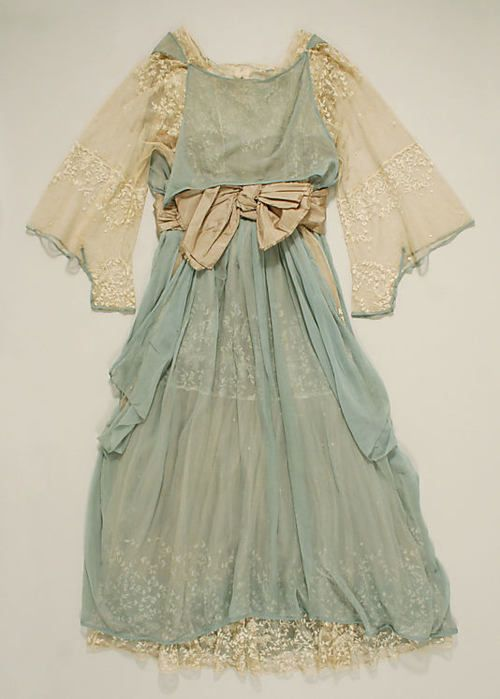 Wedding dress, 1916.  Something blue!