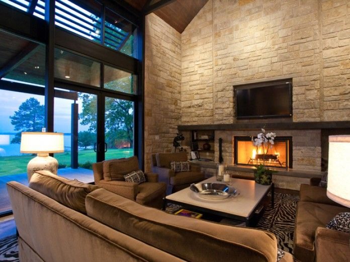 Fort Worth Texas Architect residential design interior landscape lake house