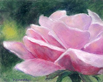 pastel painting of flower - Google Search