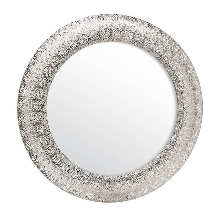 METAL WALL MIRROR IN SILVER COLOR D-60 (4) - Metallic m. - MIRRORS