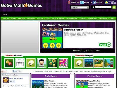 Go Go Math Games | mathematics resources | Pinterest