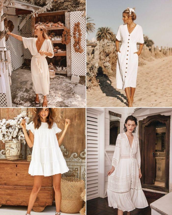 1001 Modeles Inspirantes De La Robe Blanche D Ete Robe Blanche Modele De Robe Robe Longue