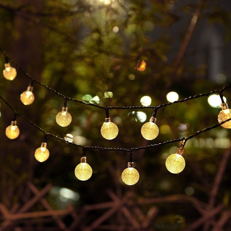 68 best solar powered string lights images on pinterest ball globe string lights cmyk 20 ft 30 crystal balls waterproof led fairy lights outdoor starry lights solar powered string lights decorative lighting for mozeypictures Image collections