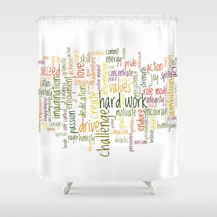 Motivational Words Shower Curtain By Hightonridley Gifts