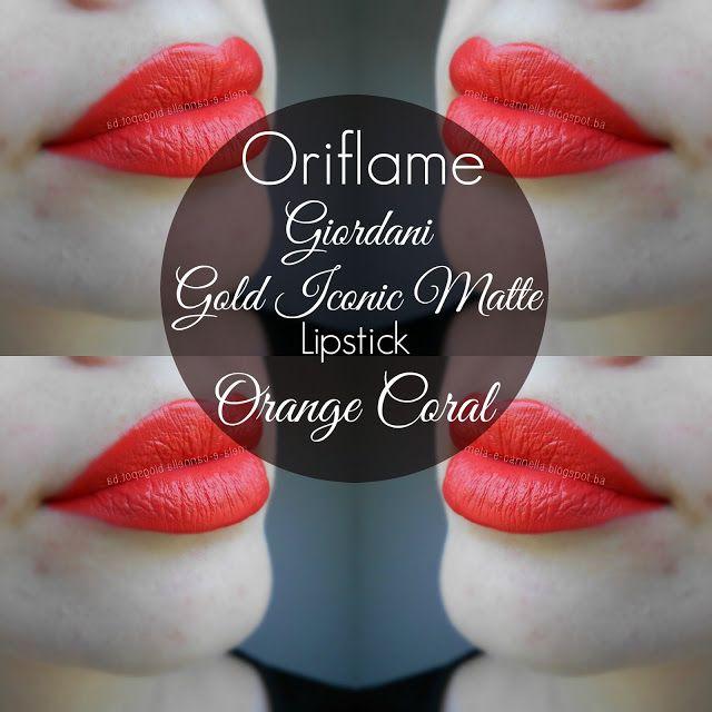 Oriflame - Giordani Gold Iconic Matte Lipstick - Orange Coral matte Oriflame ruž