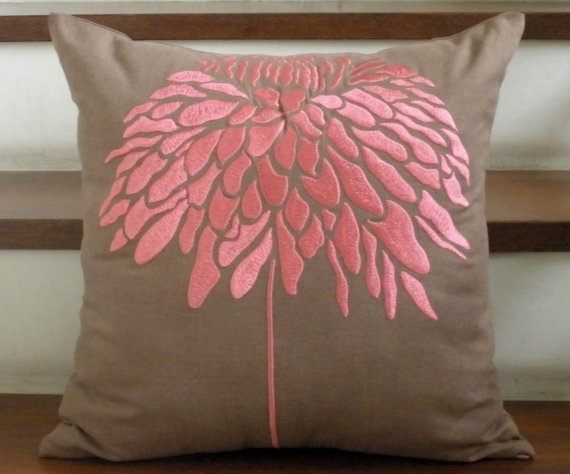 I'd love a pop of coral pink in the living room.