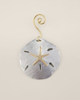 Chico's Sand Dollar Ornament...this would make a nice necklace!