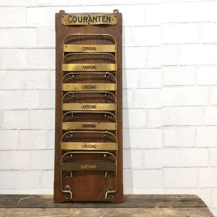 Dutch Newspaper Rack   Mail Rack   Paper Sorter   Office   Studio   Organize