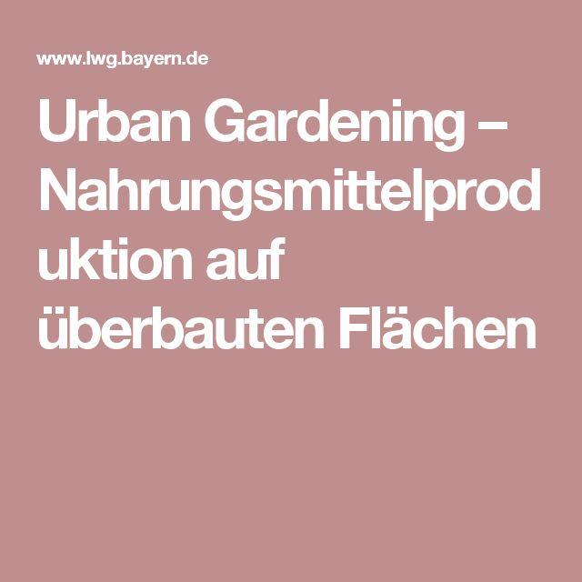 Urban Gardening – Nahrungsmittelproduktion auf überbauten Flächen