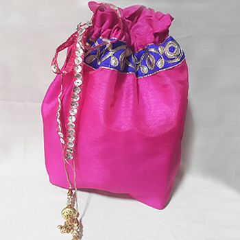 Majenta Potli Bag.