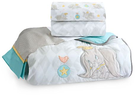 Dumbo Crib Bedding Set for Baby - Personalizable