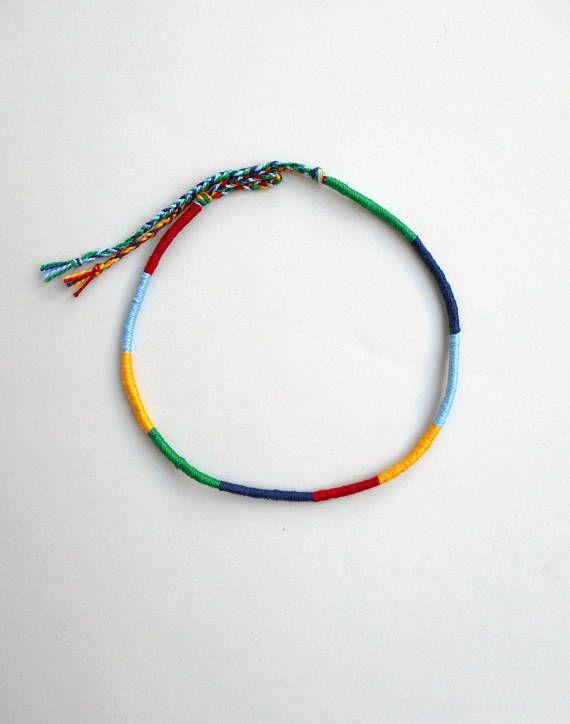Friendship anklet Rope anklet Surfer gifts Cotton anklet