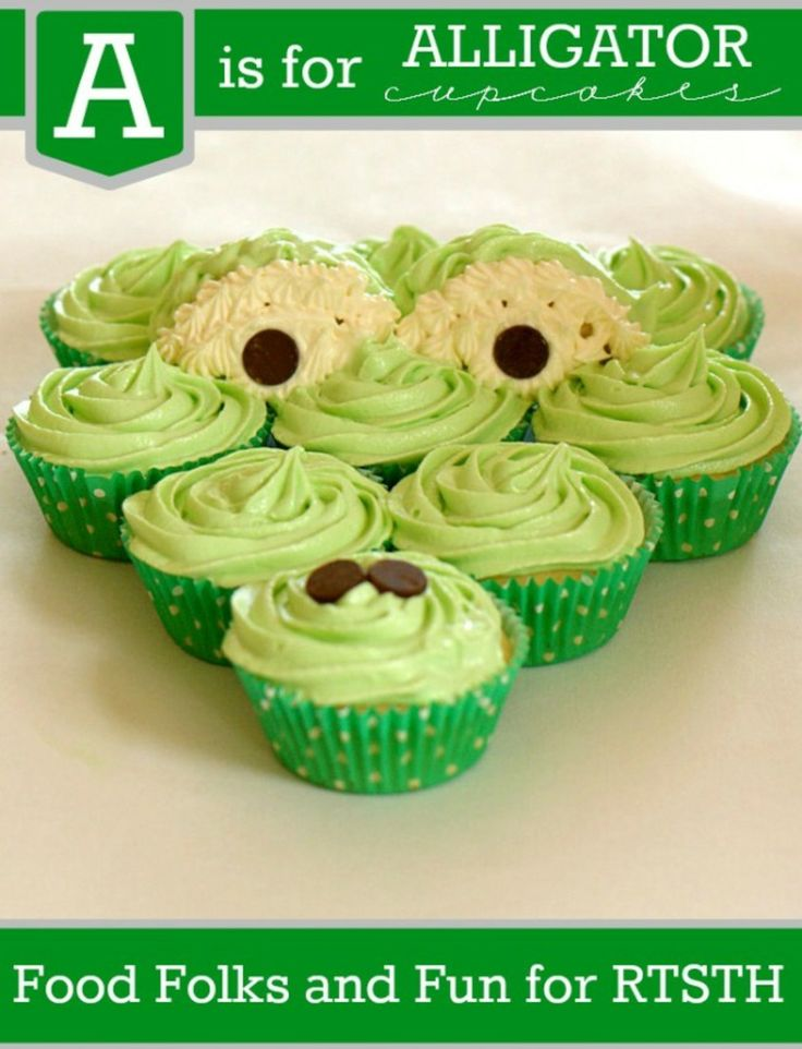"Cooking With Kids - ""A"" is for Alligator Cupcakes"