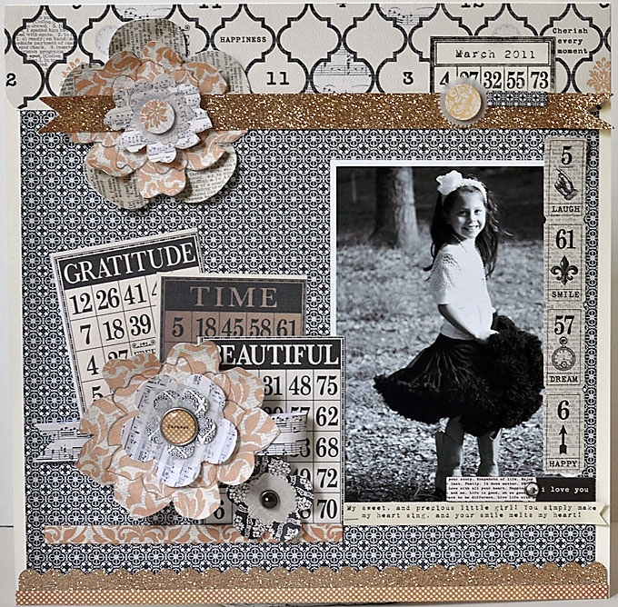 TERESA COLLINS DESIGN TEAM: Vintage Finds layouts with Suzanne Sergi