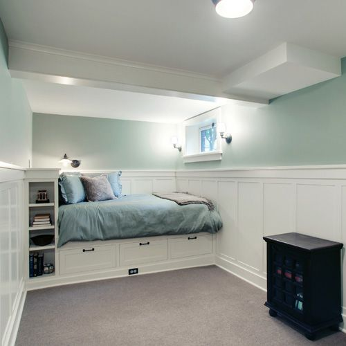 Small Basement Bedroom, Small Bedrooms, Guest Bedrooms, In The Basement,  Small Basement Remodel, Open Basement, Basement Finishing, Bedroom Office,  ...