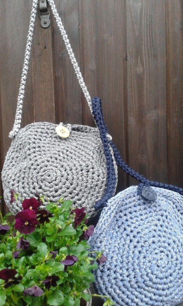 borsa in fettuccia fatta a mano/handmade bag
