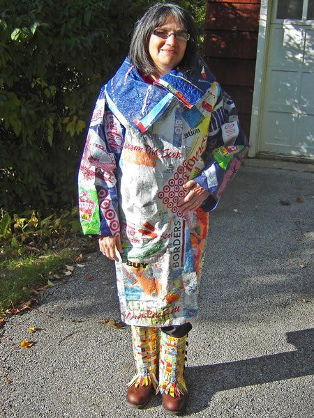 I love this idea for a kid's rain poncho!