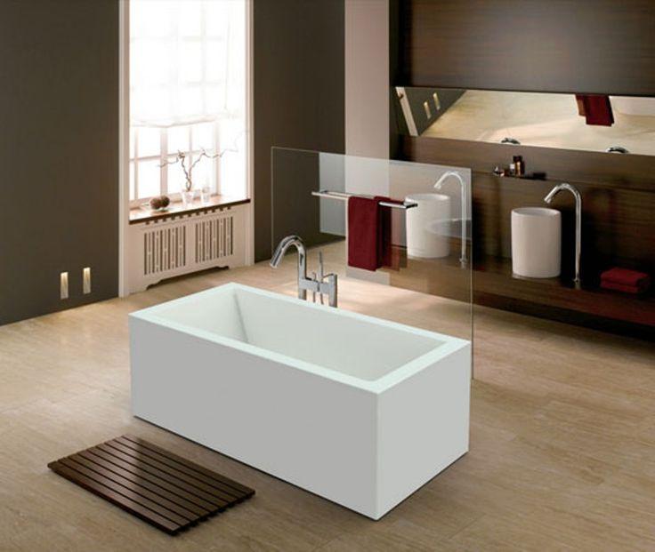 Badekar - Quadro 165 - fritstående designbadekar. http://www.spacenteret.dk/product/badekar-quadro-165-fritstaaende-designbadekar-1205/
